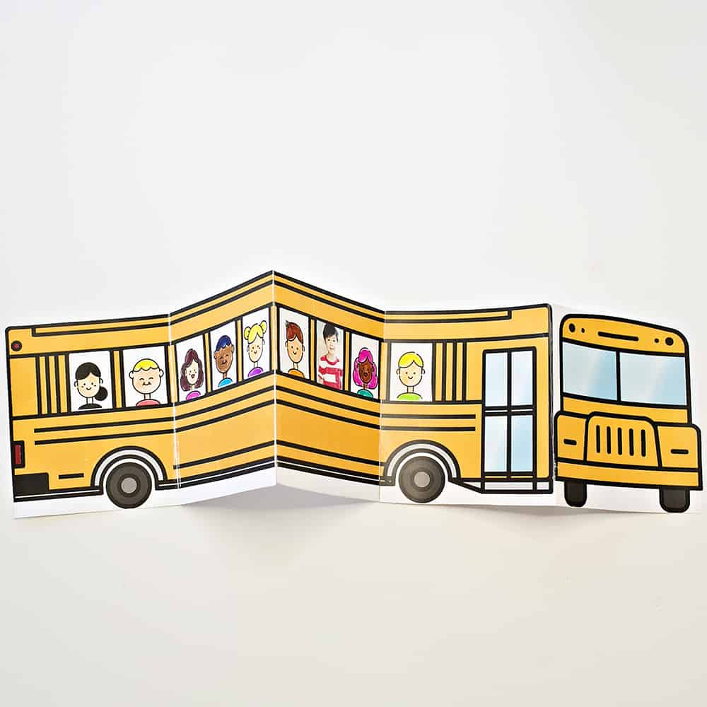 Create a cute school-themed keepsake with this school bus of friends free printable!