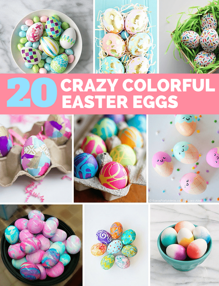 20 crazy colorful easter egg decorating ideas for Easter egg ideas
