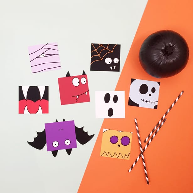 image about Printable Halloween Cards known as Cost-free PRINTABLE HALLOWEEN Exciting Playing cards WITH COLORING Solution