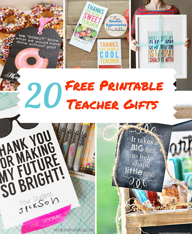picture relating to Printable Gifts identified as 20 Wonderful No cost PRINTABLE Instructor APPRECIATION Presents