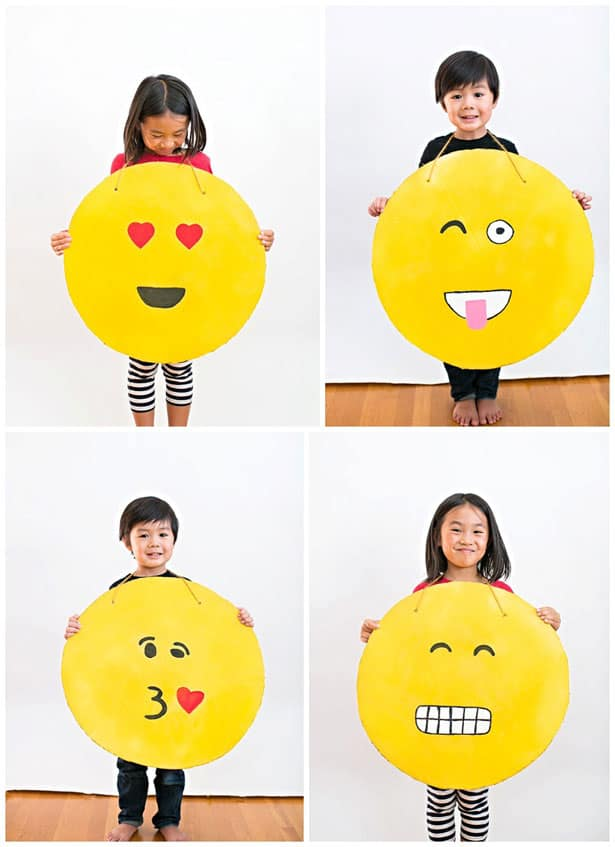 Easy diy cardboard emoji costume solutioingenieria Image collections