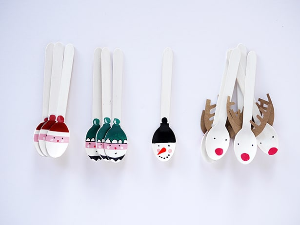 Diy christmas holiday spoon craft for Wooden spoons for crafts
