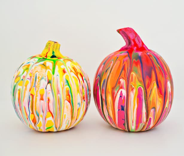 Although Spray Painting The Pumpkins First Is Optional I Love Seeing Colors K Out Among Drops Of Squeeze Paint
