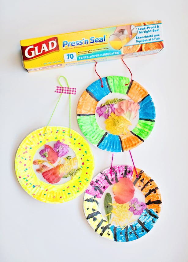 Colorful and easy flower suncatcher craft for Suncatcher craft for kids
