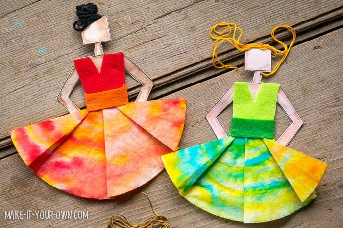 spanish craft ideas hello wonderful make coffee filter dancers 2978