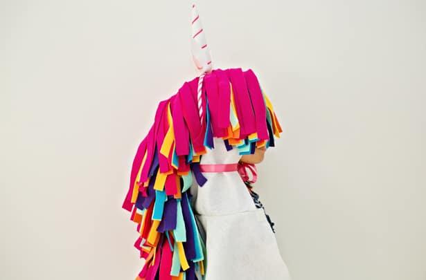 Diy no sew felt rainbow unicorn costume for kids solutioingenieria Image collections