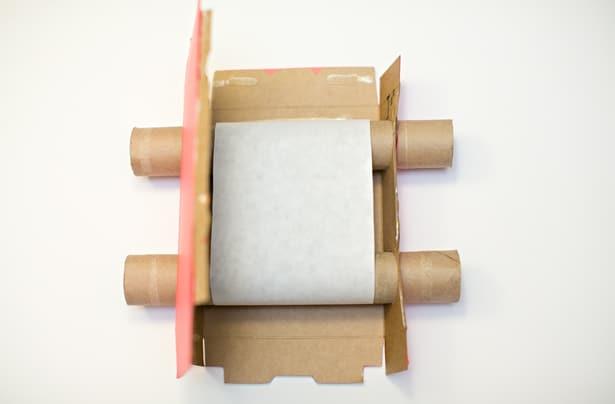 how to make a cvardboard box tv camera