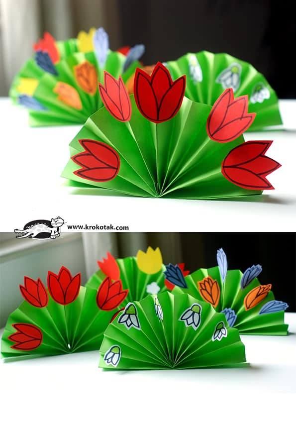 make a paper spring bouquet