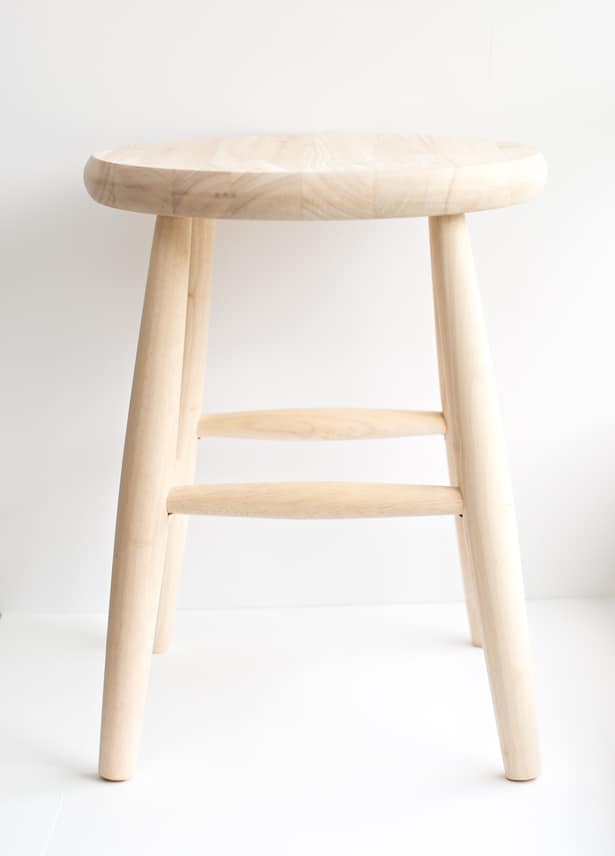 Unfinished Wooden Children S Stool