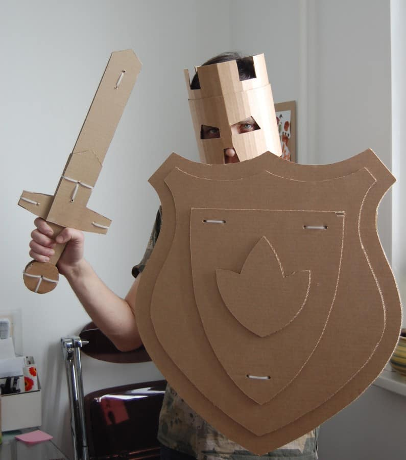 How To Make A Book Holder Out Of Cardboard ~ Incredible cardboard costumes for kids