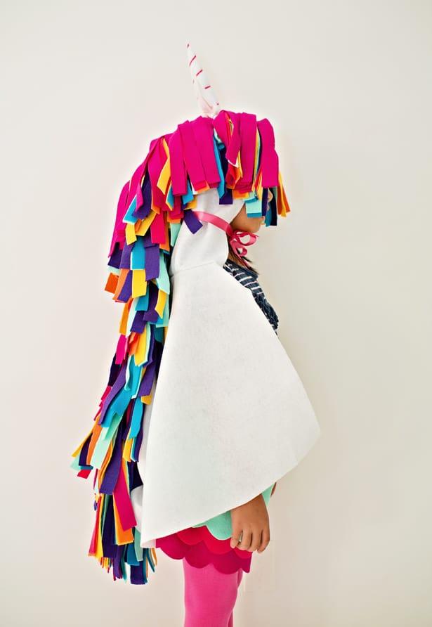 DIY NO-SEW FELT RAINBOW UNICORN COSTUME FOR KIDS