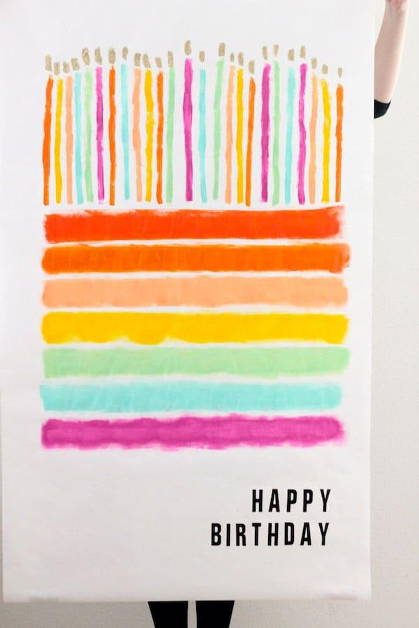 Diy Birthday Cake Poster