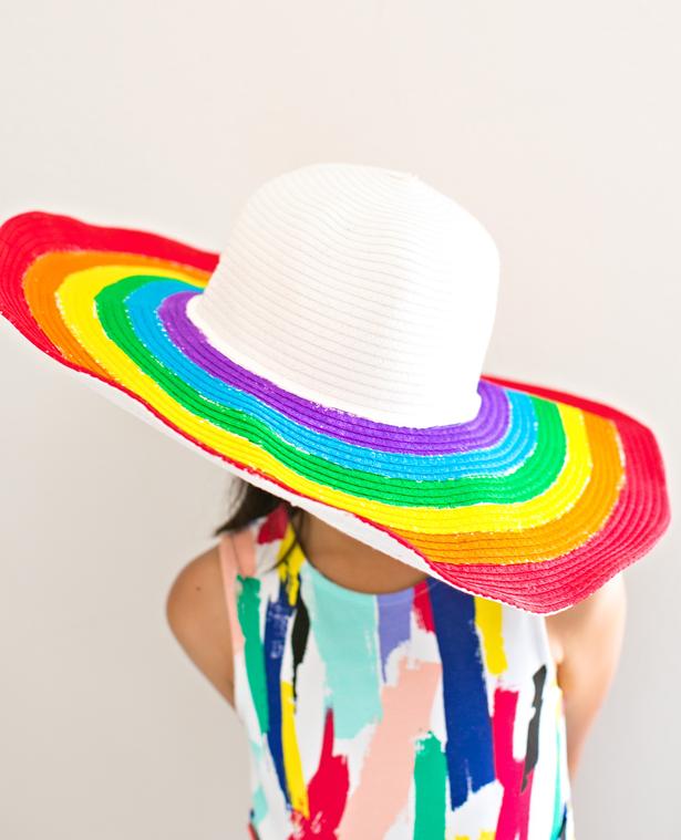 059da9c5fd DIY RAINBOW FLOPPY SUN HAT