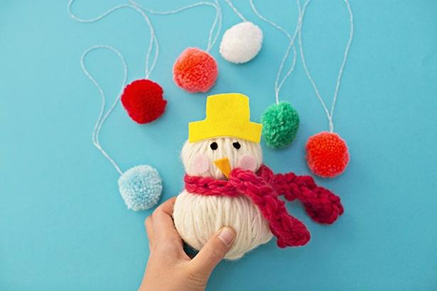 Easy No Sew Yarn Snowman Softie