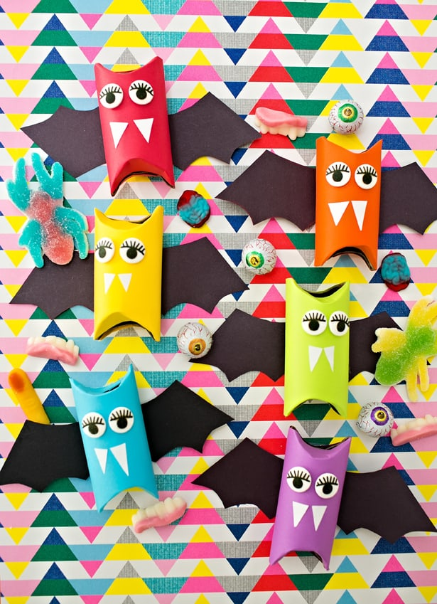 halloween arts and crafts ideas easy rainbow paper bats craft for 7751