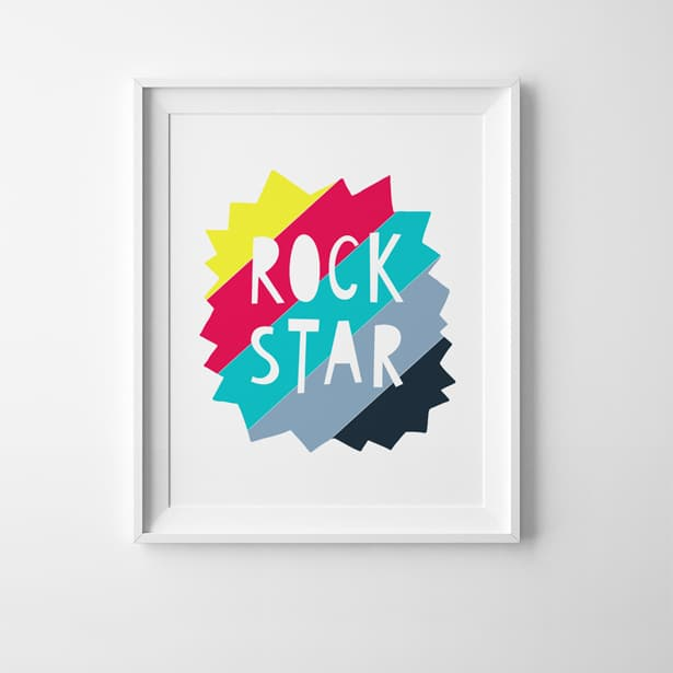 picture regarding Free Printable Art referred to as ROCK STAR Cost-free PRINTABLE Artwork PRINT