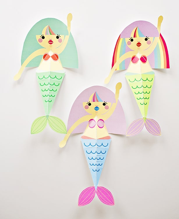 photograph relating to Printable Paper Craft named SWIMMING MERMAID PAPER CRAFT WITH Cost-free PRINTABLES