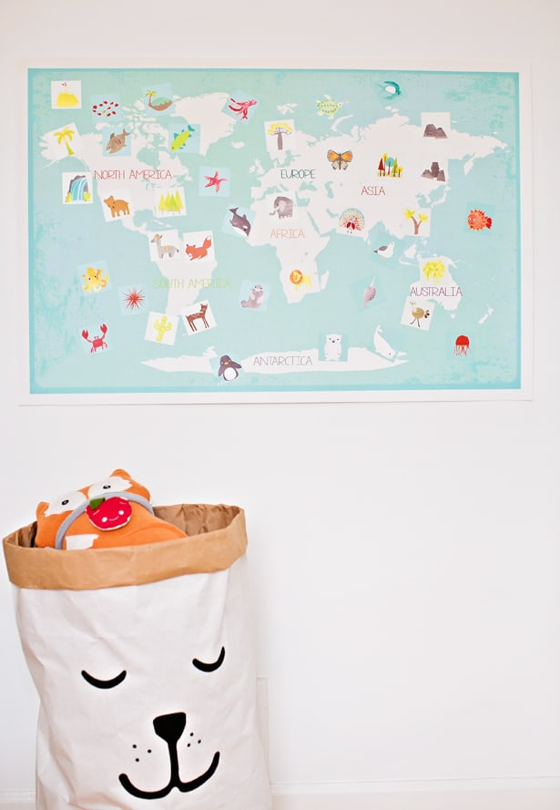 INTERACTIVE WORLD MAP FOR KIDS FROM CHILDREN INSPIRE DESIGN - Interactive map for children