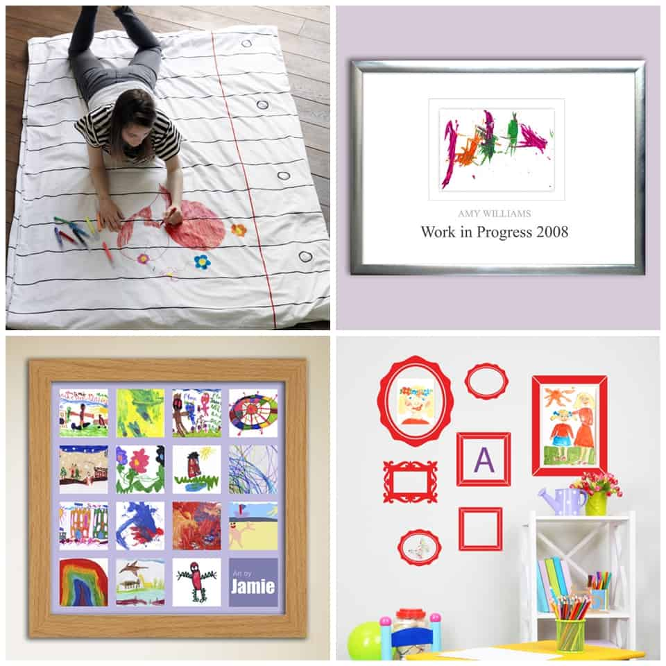 From Wallpaper Pillowcases Or Duvet Covers To Framing Your Kids Favorite Art In Fun Collages And Decal Frames