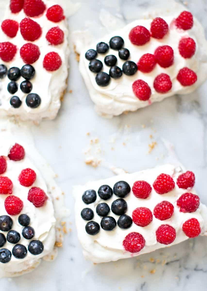 Easy Mini Flag Ice Cream Cakes