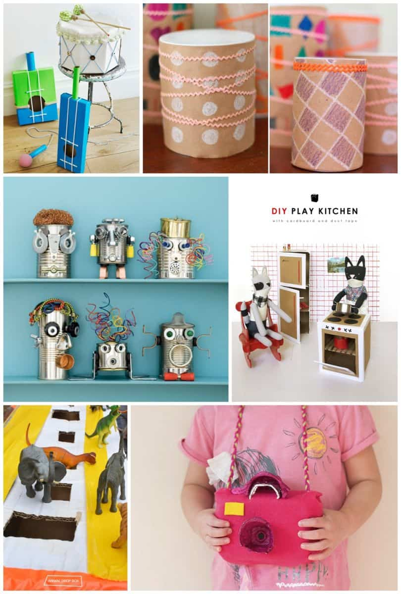 30 best recycled toy crafts for kids for Homemade recycling projects