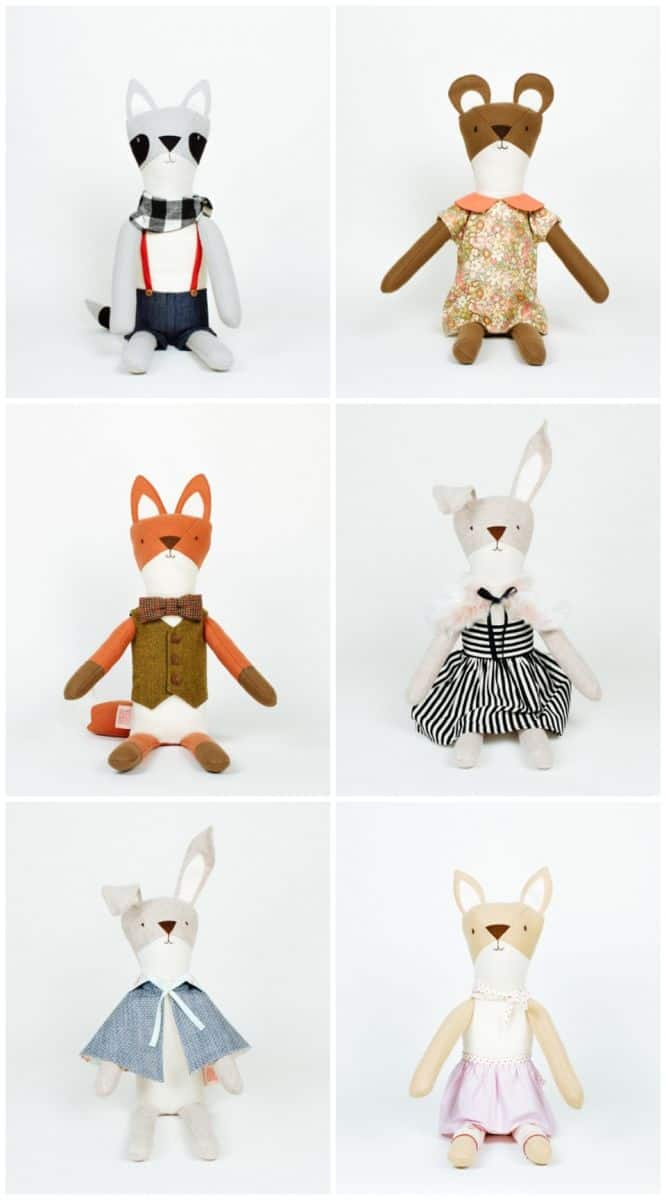 Hello wonderful handcrafted felt dolls from walnut animal society the best part about having dolls is playing dress up of course walnut animal society apparel can be interchanged with additional accessories and clothing pronofoot35fo Choice Image