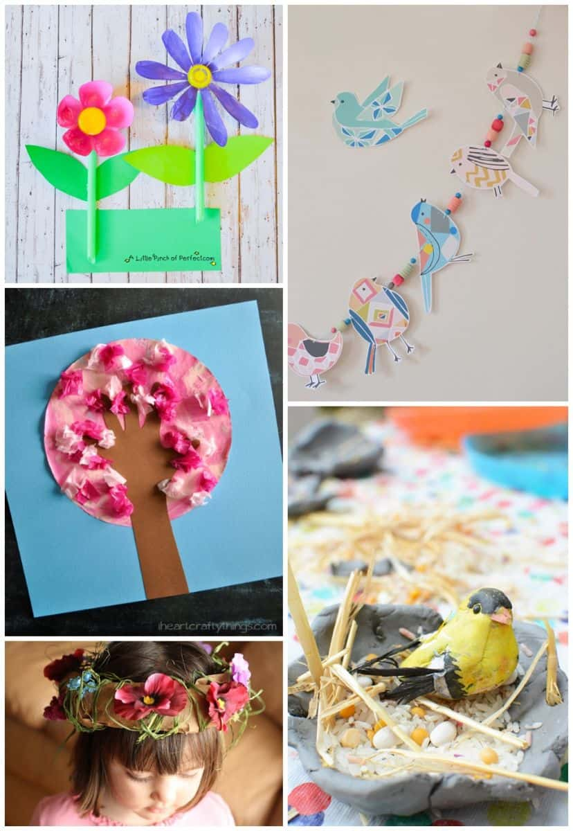 20 fun spring crafts to celebrate spring 17 paper bird garland art bar 18 cherry blossom tree i heart crafty things 19 paper bag flower crowns happy hooligans izmirmasajfo Images