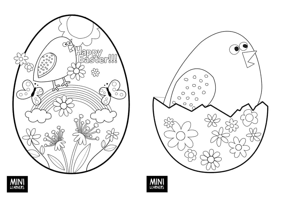 Download Both Free Printable Easter Coloring Pages Below