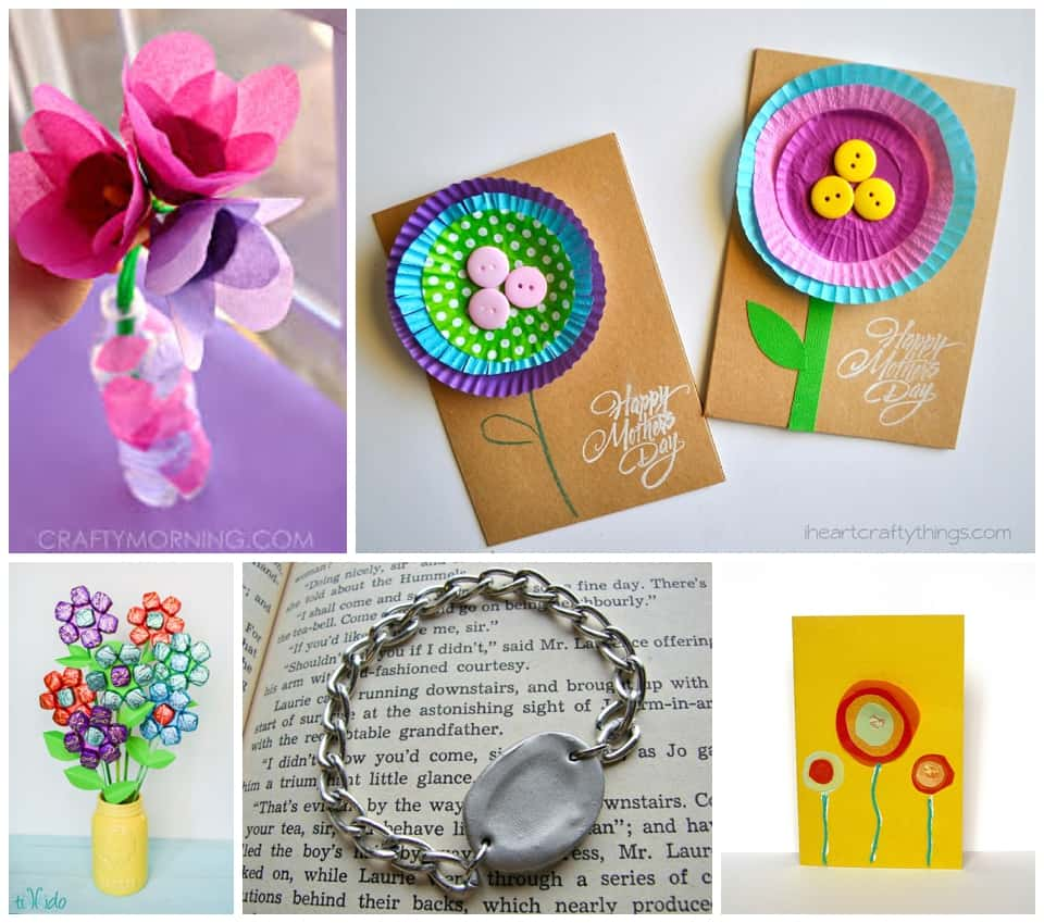 50 PLUS KID-MADE MOTHER'S DAY GIFTS YOU'LL LOVE TO RECEIVE. Easy and cute handmade Mother's Day gifts from the kids.