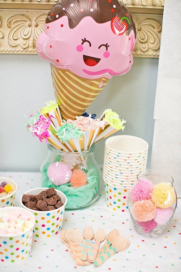 how to plan a cute and simple ice cream party for kids
