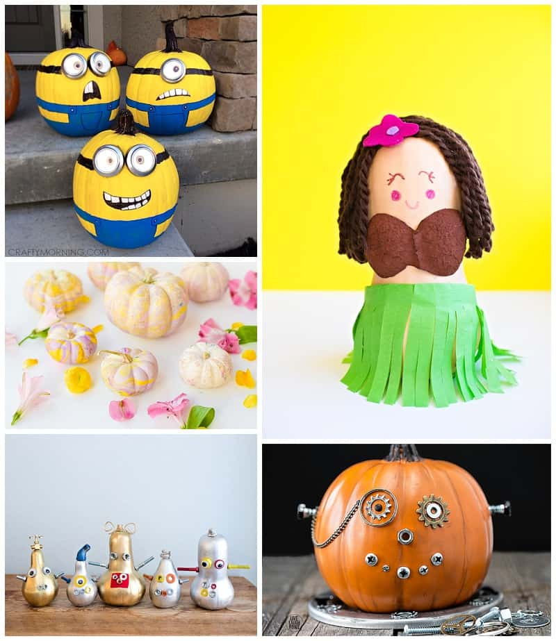 25 utterly adorable no carve pumpkin decorating ideas for kids - Pumpkin Decorating Ideas