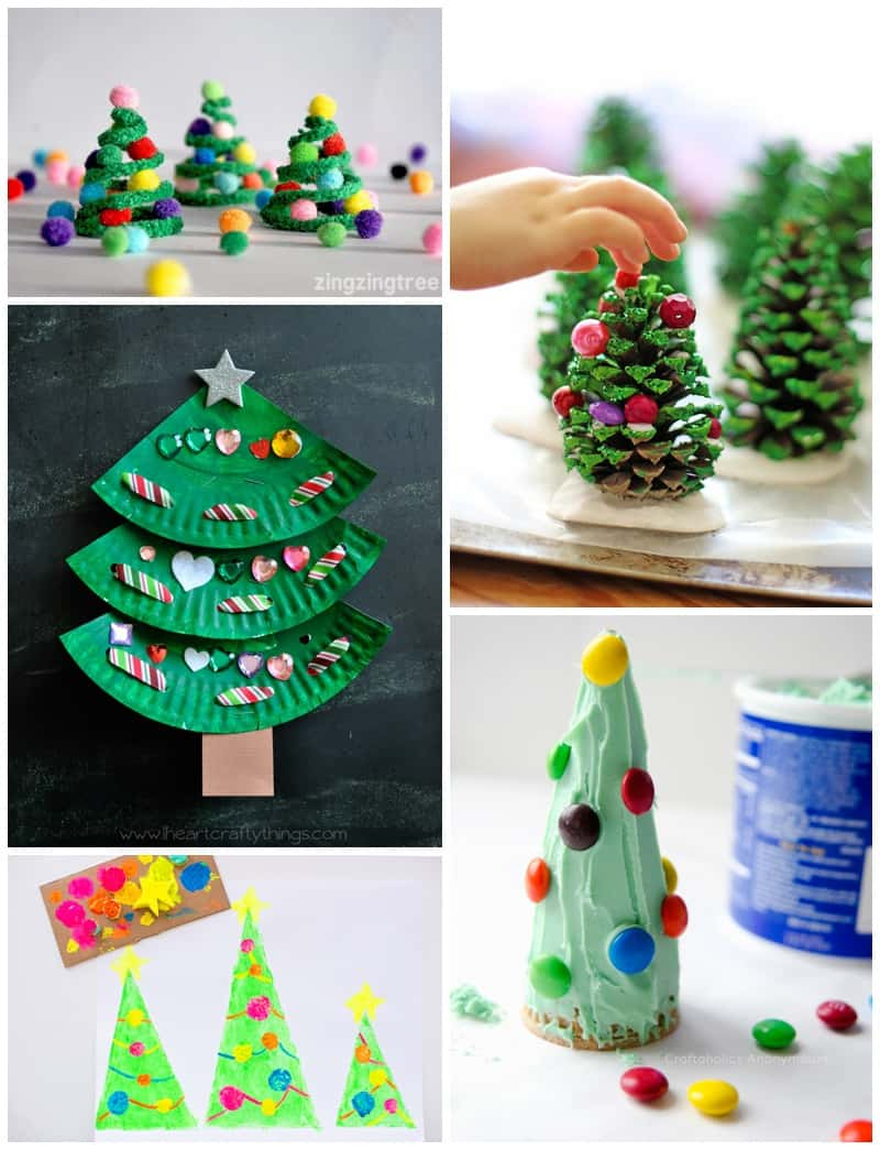 25 of the most adorable christmas tree crafts kids can make for Christmas tree arts and crafts