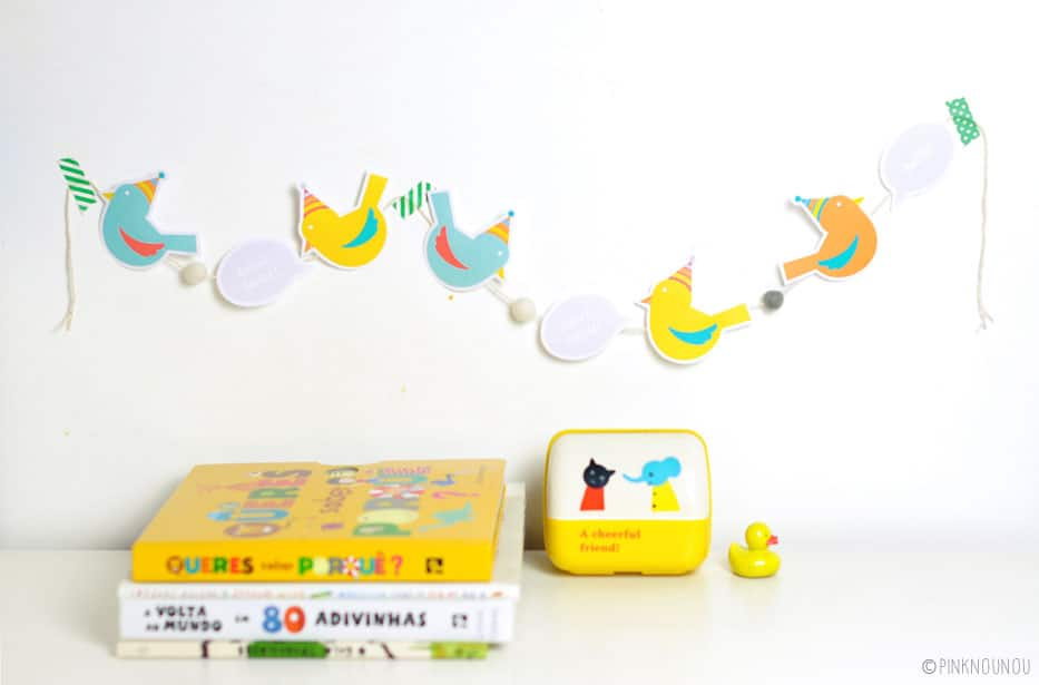 FREE PRINTABLE PAPER BIRD GARLAND