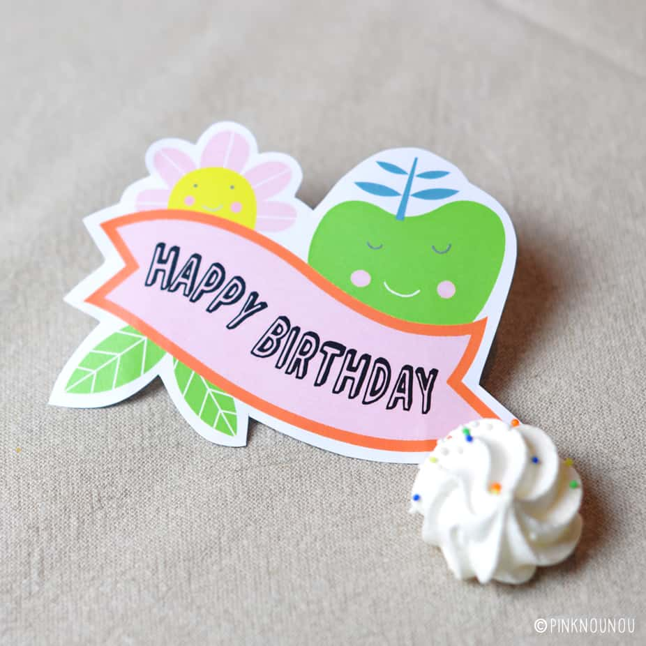 Free Printable Happy Birthday Tag