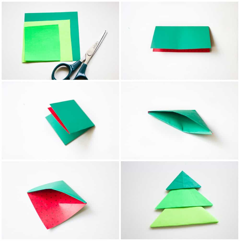 Diy Origami Christmas Tree Pop Up Card