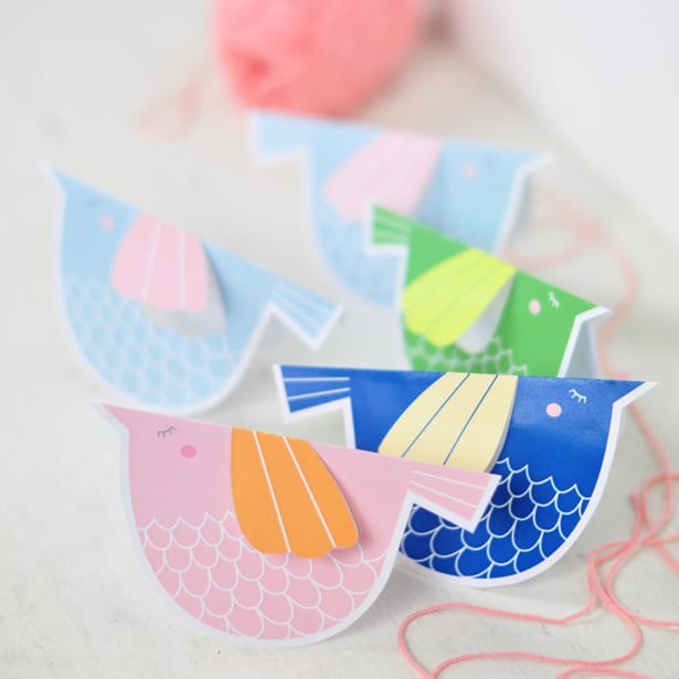 These Sweet Pastel Paper Birds Make An Adorable Mobile To Cheer Up Your Kids Room Or Nursery Them Without String Decorate A Children S Party