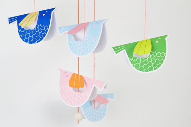 Sweet Paper Bird Mobile With Free Printable