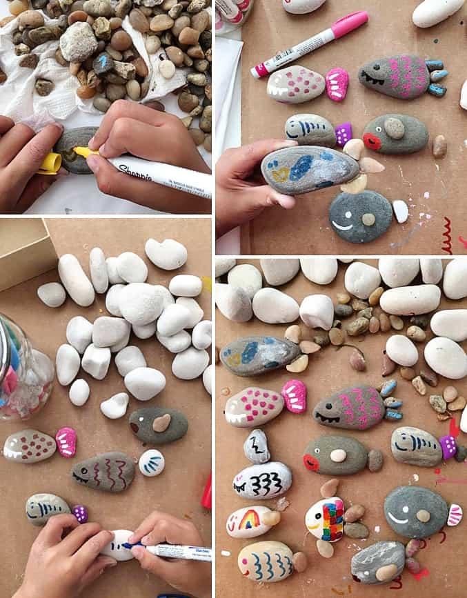 Cute Rock Fish Craft