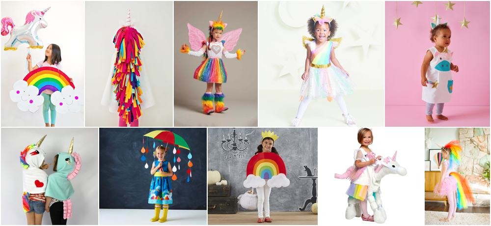 72d03796f 12 MAGICAL UNICORN AND RAINBOW COSTUMES FOR KIDS