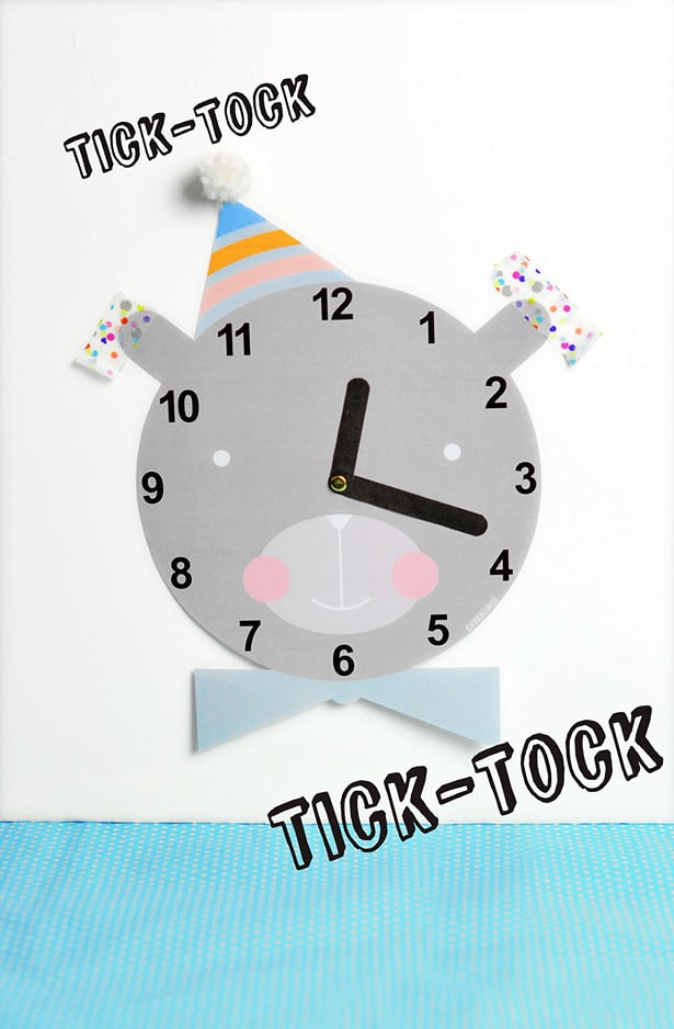 picture relating to Free Printable Clock named Lovable Absolutely free PRINTABLE CLOCK FOR Young children