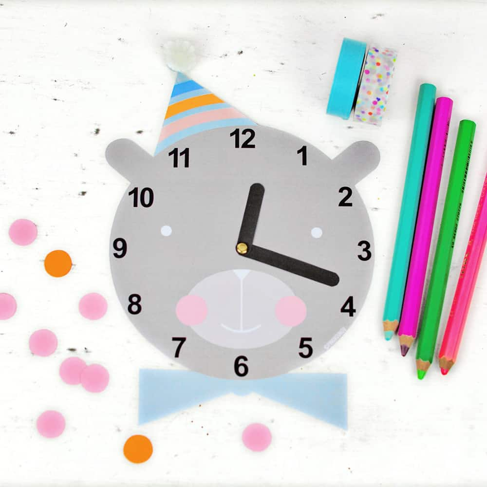 image about Clock Printable identified as Adorable Cost-free PRINTABLE CLOCK FOR Young children