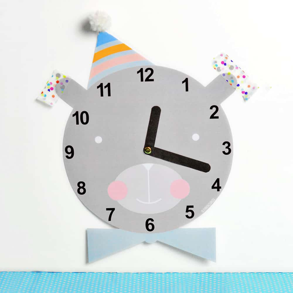 graphic relating to Free Printable Clock Template identified as Lovable Free of charge PRINTABLE CLOCK FOR Little ones