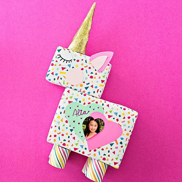easy Unicorn Valentine Card Box