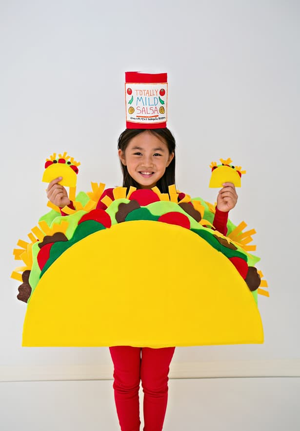 Diy no sew felt taco costume for kids excited to share part i of our dragons love tacos costume series the taco check back next week for the easy dragon diy and photos of both the dragon and solutioingenieria Image collections