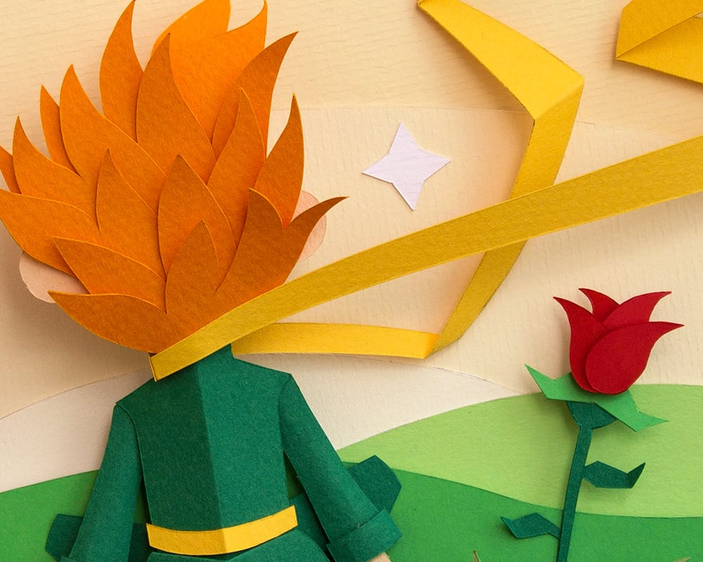 beautiful paper art inspired by the little prince. Black Bedroom Furniture Sets. Home Design Ideas