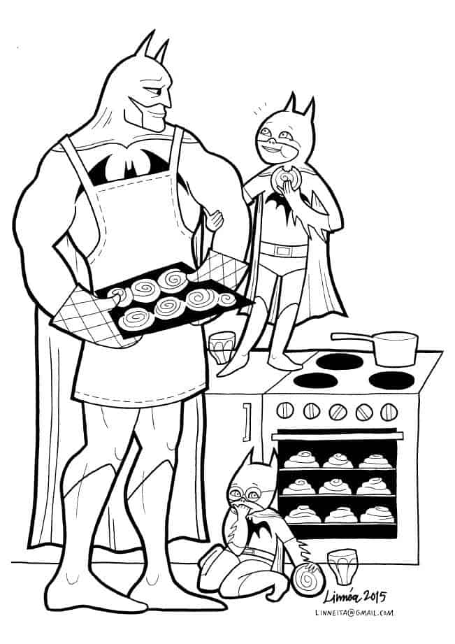 A Coloring Book That Shows The Softer Side Of Super Heroes