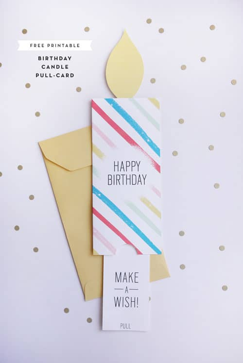 hello Wonderful FREE PRINTABLE BIRTHDAY PULL CARD – Birthday Cards Print out