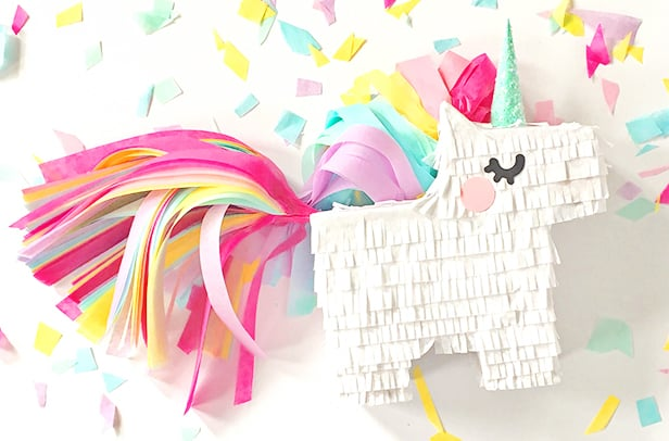 graphic relating to Free Printable Unicorn Template identify Do it yourself MINI UNICORN PINATA WITH Absolutely free PRINTABLE TEMPLATE