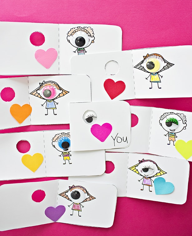 photograph regarding Printable I Love You Cards titled EYE Take pleasure in By yourself COLORING VALENTINE Playing cards WITH Totally free PRINTABLE