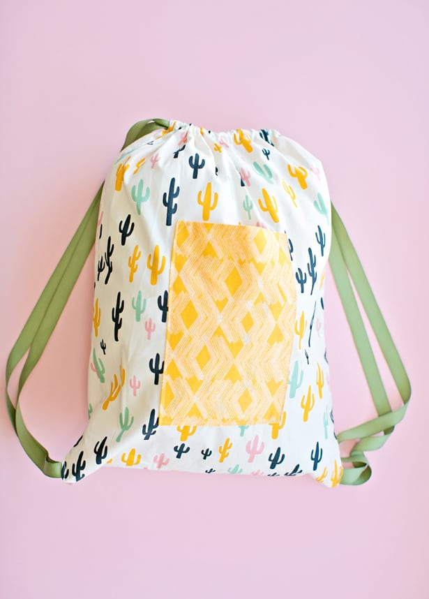 Easy Sewing With Kids 30 Minute Drawstring Fabric Backpack
